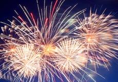 Bella manifestazione dei fuochi d'artificio Fotografie Stock Libere da Diritti
