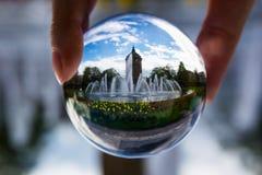 Bella Mannheim Wasserturm (torre di acqua) da una prospettiva sferica Fotografie Stock Libere da Diritti