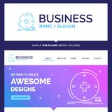 Bella marca commerciale di concetto di affari clinica, digitale, salute illustrazione di stock