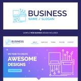 Bella marca commerciale digitale, fibra di concetto di affari, elettronica illustrazione vettoriale