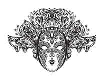 Bella maschera astratta di pizzo Illustrazione di vettore illustrazione di stock