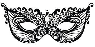 Bella maschera di pizzo illustrazione vettoriale