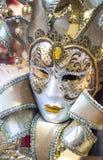 Bella maschera dorata di carnevale Fotografia Stock Libera da Diritti