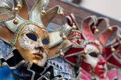 Bella maschera veneziana elegante di carnevale a Venezia, Italia Immagini Stock