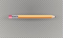 Bella matita su un fondo trasparente Illustrazione di vettore Immagine Stock Libera da Diritti
