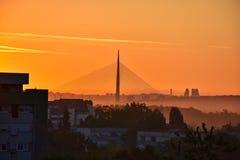Bella mattina a Belgrado fotografia stock libera da diritti