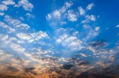 Bella mattina blu Fotografia Stock