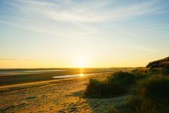 Bella mattina della spiaggia Fotografie Stock Libere da Diritti