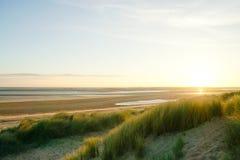Bella mattina della spiaggia Immagini Stock