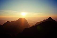 Bella montagna ChiangDao Immagine Stock