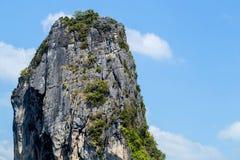 Bella montagna con cielo blu luminoso Fotografia Stock