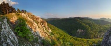 Bella montagna della sorgente Immagini Stock Libere da Diritti