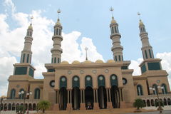 Bella moschea islamica Borneo del centro Fotografia Stock Libera da Diritti