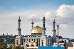 Bella moschea nel Borneo Indonesia Fotografia Stock Libera da Diritti