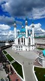 Bella moschea stessa nel Cremlino di Kazan immagine stock libera da diritti