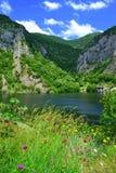Bella natura del lago della montagna immagini stock libere da diritti