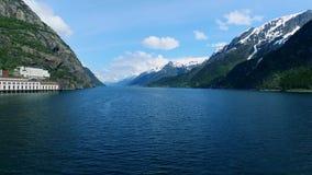 Bella natura Norvegia Paesaggio, lago e montagne Fiordo di Hardanger archivi video