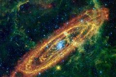 Bella nebulosa e stelle luminose nello spazio cosmico, universo misterioso d'ardore royalty illustrazione gratis