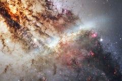 Bella nebulosa e stelle luminose nello spazio cosmico, universo misterioso d'ardore illustrazione di stock