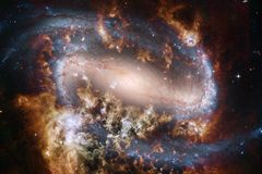 Bella nebulosa impressionante da qualche parte nello spazio cosmico royalty illustrazione gratis