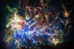 Bella nebulosa impressionante da qualche parte nello spazio cosmico illustrazione vettoriale