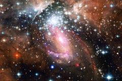 Bella nebulosa, starfield, mazzo delle stelle nello spazio cosmico illustrazione di stock