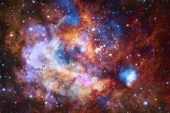 Bella nebulosa, starfield, mazzo delle stelle nello spazio cosmico illustrazione vettoriale