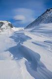 Bella neve sopra la montagna Changbai Fotografia Stock