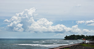 Bella nuvola sulla spiaggia Fotografia Stock Libera da Diritti