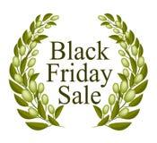 Bella Olive Wreath per la vendita di Black Friday Immagine Stock