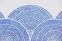 Bella parete blu delle mattonelle Immagine Stock Libera da Diritti
