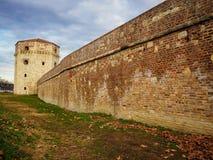 Bella parete con la torre Fotografia Stock