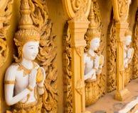 Bella parete dorata del tempio Fotografia Stock