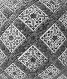 Bella parete tailandese del tempio di fondo ceramico immagini stock