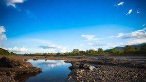 Bella parte anteriore del fiume del lago della diga Fotografie Stock Libere da Diritti
