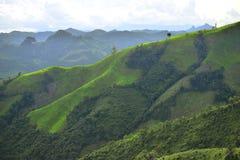 Bella parte delle montagne verdi Fotografie Stock Libere da Diritti