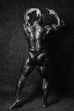 Bella parte posteriore muscolare del ` s dell'uomo nello studio immagine stock