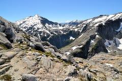 Bella Patagonia, iride di Arco, Cochamo, Cile Fotografie Stock