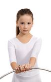 Bella piccola ragazza relativa alla ginnastica Fotografia Stock