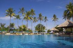 Bella piscina tropicale fotografia stock