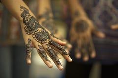 Bella pittura della mano Fotografia Stock