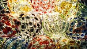 Bella pittura di colore della palla di vetro fotografie stock libere da diritti