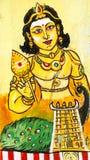 Bella pittura nel muruganTemple, Chennai, Tamil Nadu, I del sud Immagini Stock