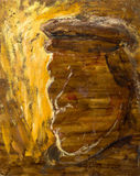 Bella pittura a olio originale con il fantasma di capitano Immagine Stock