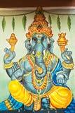 Bella pittura in tempio del ganesh, Chennai, Tamil Nadu, I del sud Fotografia Stock