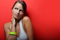 Bella posa della giovane donna Fotografia Stock Libera da Diritti