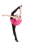 Bella posizione del danzatore di flessibilità fotografia stock