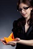 Bella posizione della donna di affari Fotografia Stock Libera da Diritti