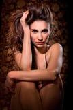 Bella posizione della giovane donna Fotografia Stock