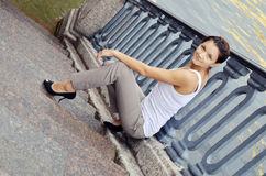 Bella posizione della ragazza Fotografia Stock